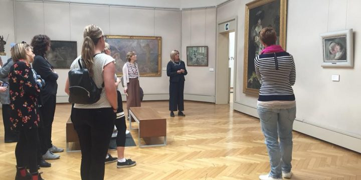 "PARTNERS VISITING THE MODERN ART GALLERY ""RICCI ODDI"""